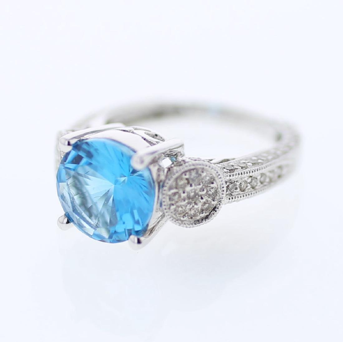 4.8 CTW Topaz Fashion  Ring in 18K White Gold