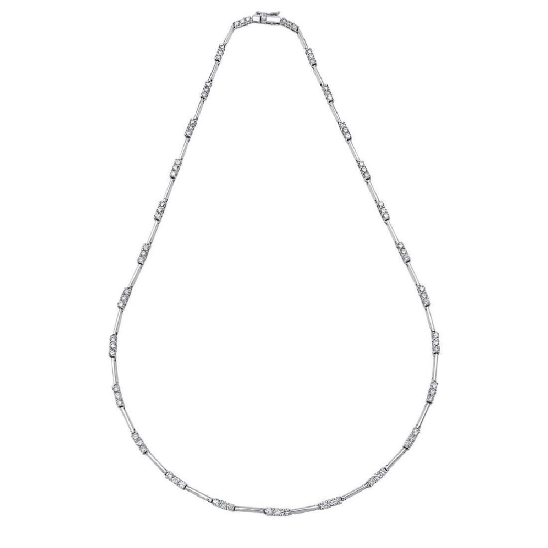 3.33 CTW Diamond  Necklace in 14K White Gold