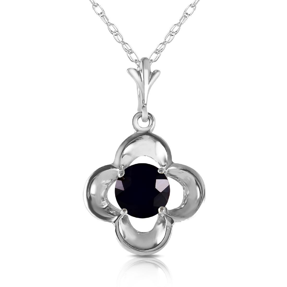 Genuine 0.50 ctw Black Diamond Necklace Jewelry 14KT