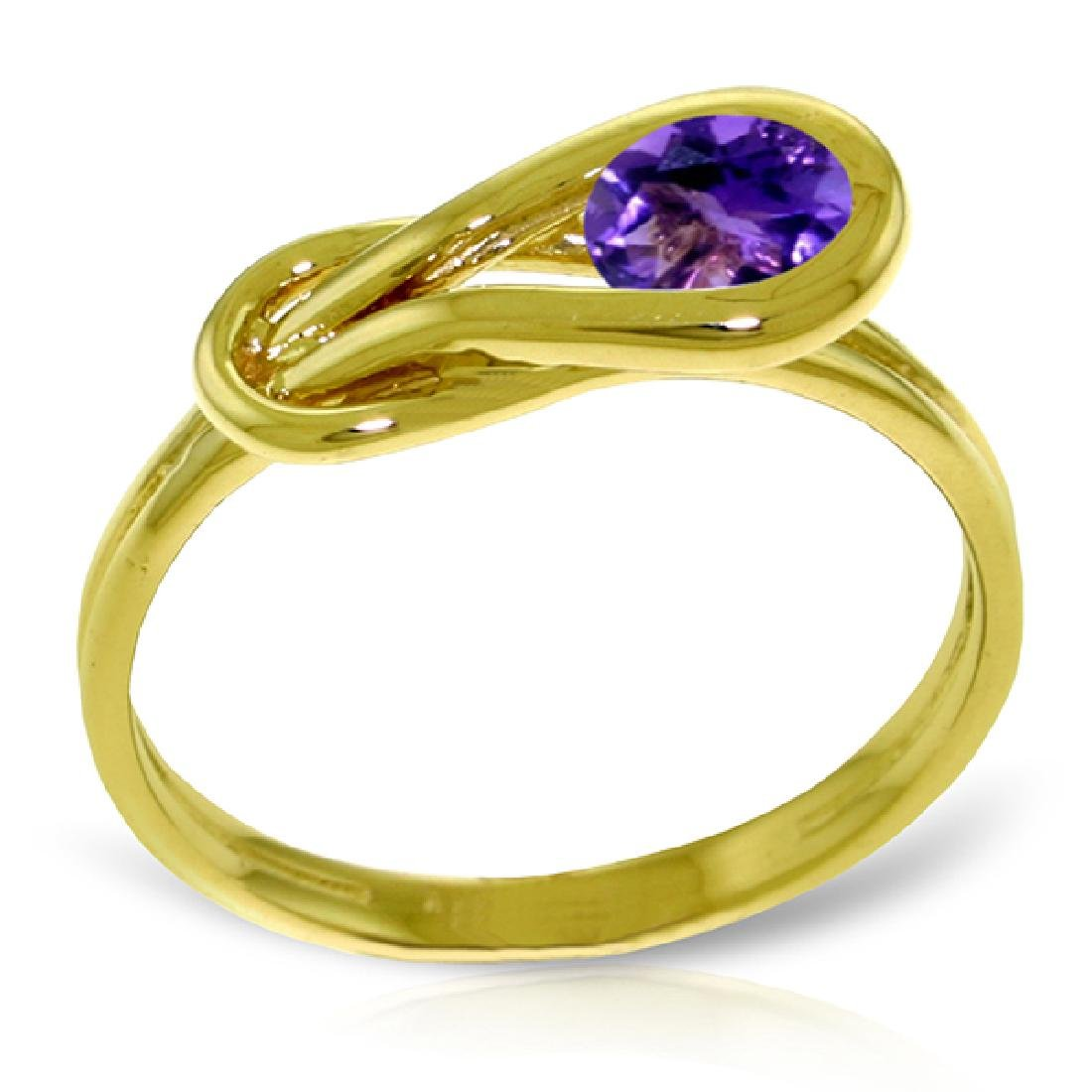 Genuine 0.65 ctw Amethyst Ring Jewelry 14KT Yellow Gold