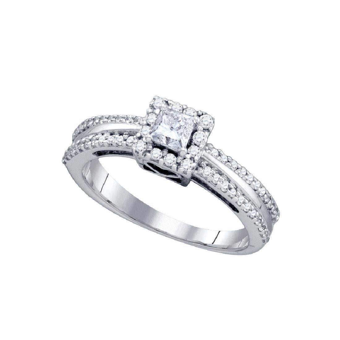 0.5 CTW Princess Natural Diamond Princess Bridal