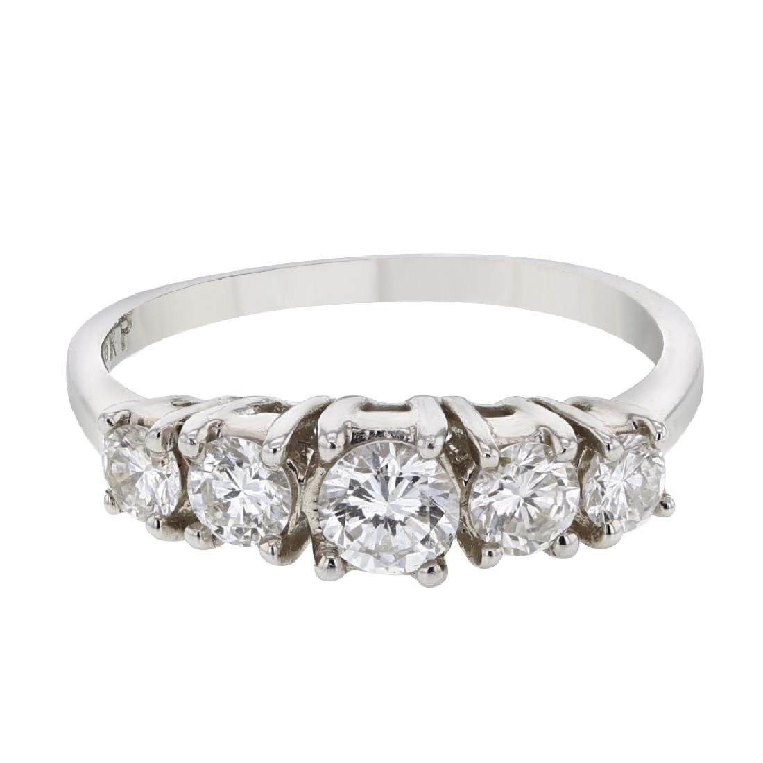 0.67 CTW Diamond Fashion  Ring in 18K White Gold