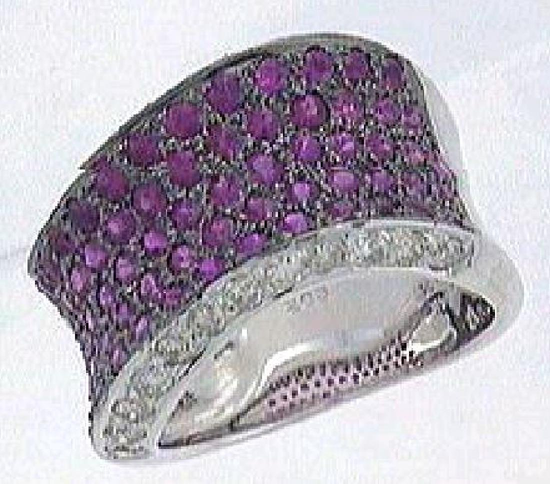 2.75 CTW Sapphire Fashion  Ring in 14K White Gold