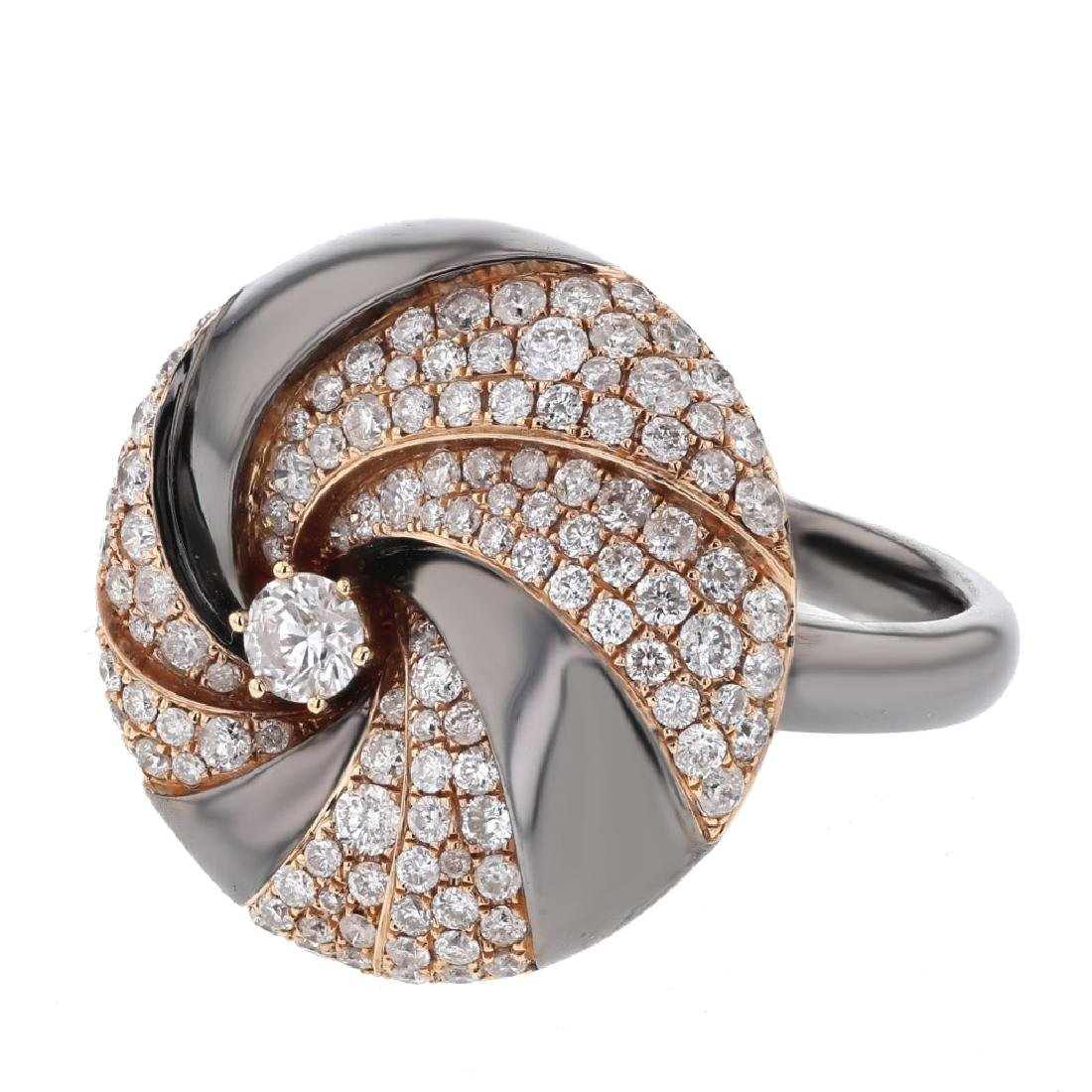 1.28 CTW Diamond Fashion  Ring in 14K Two Tone Yellow