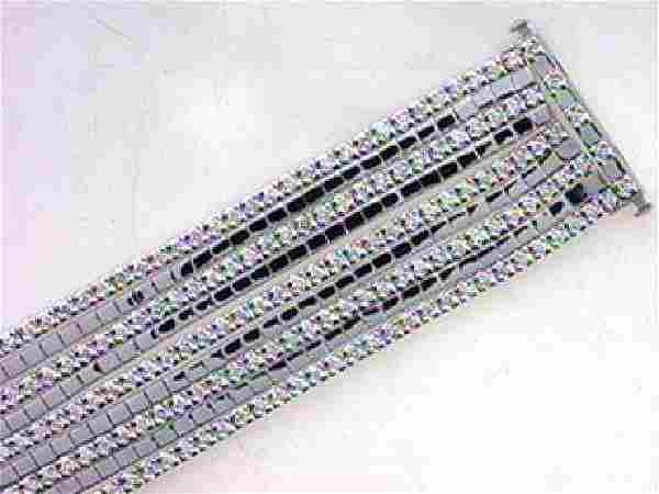 7.06 CTW Diamond Multi Color Bracelet in 14K White Gold