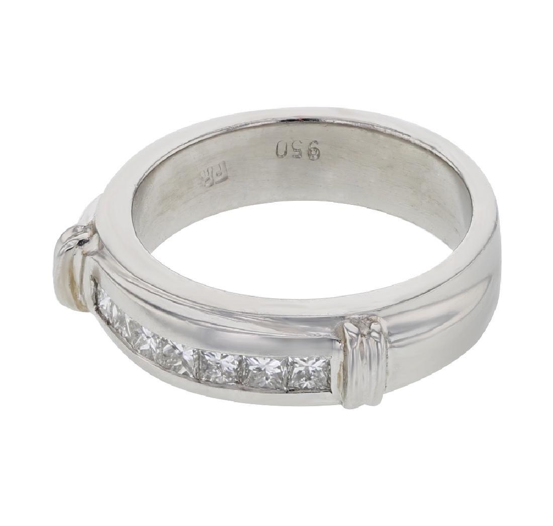 Genuine 0.30 CTW Diamond Wedding Band Ring in Platinum