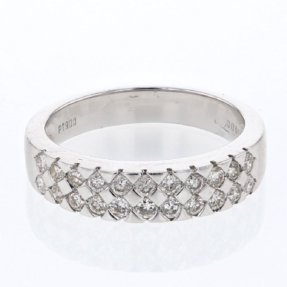 Genuine 0.61 CTW Diamond Wedding Band Ring in Platinum