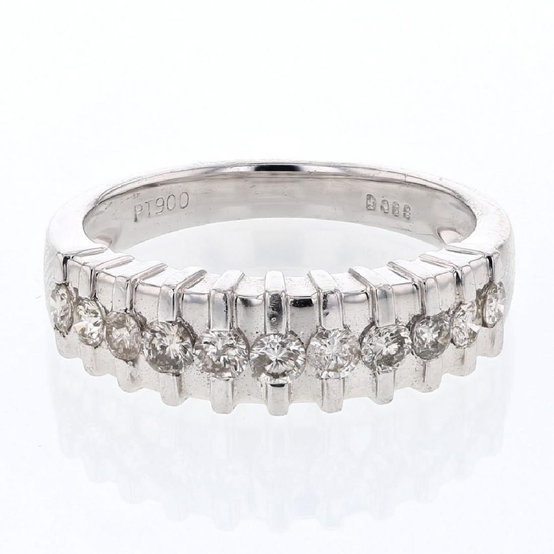 Genuine 0.59 CTW Diamond Wedding Band Ring in Platinum