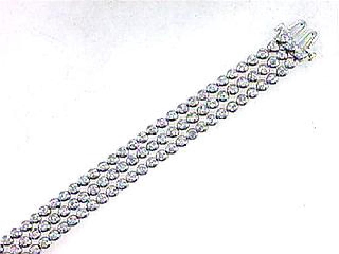 Genuine 3.35 CTW Diamond Multi Color Bracelet in 18K