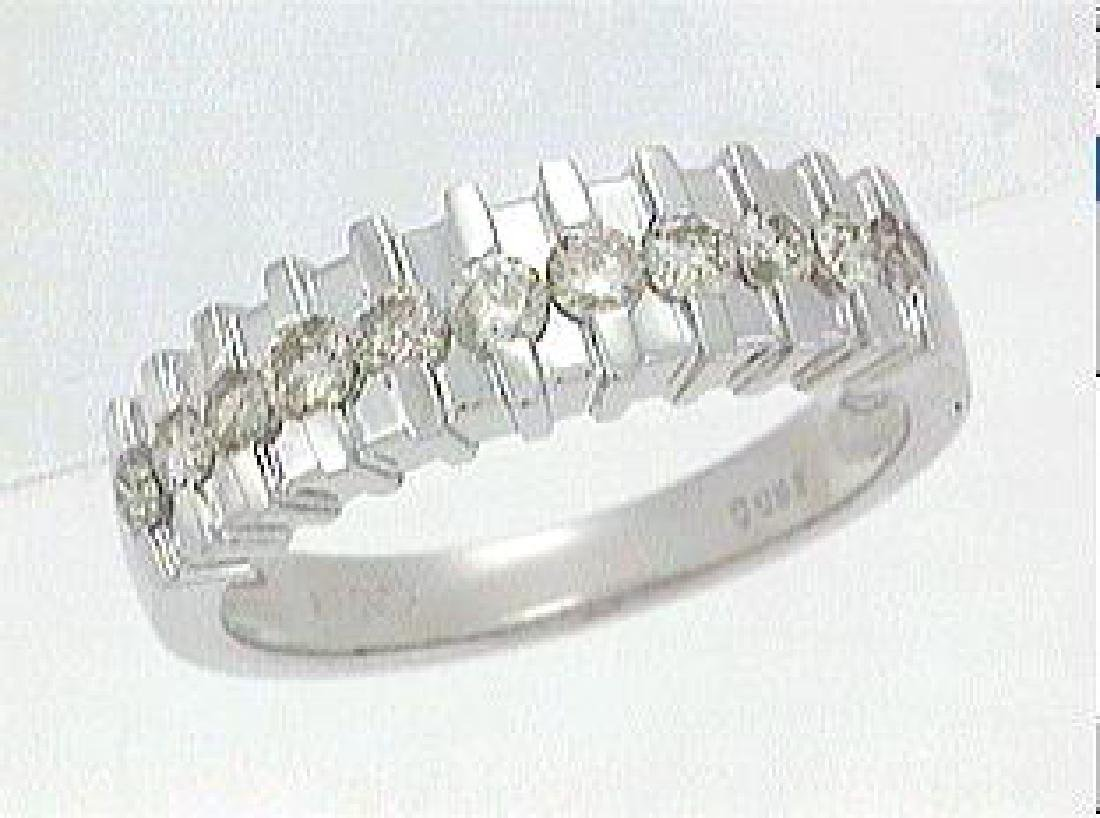 Genuine 0.59 CTW Diamond Wedding Band Ring in Platinum