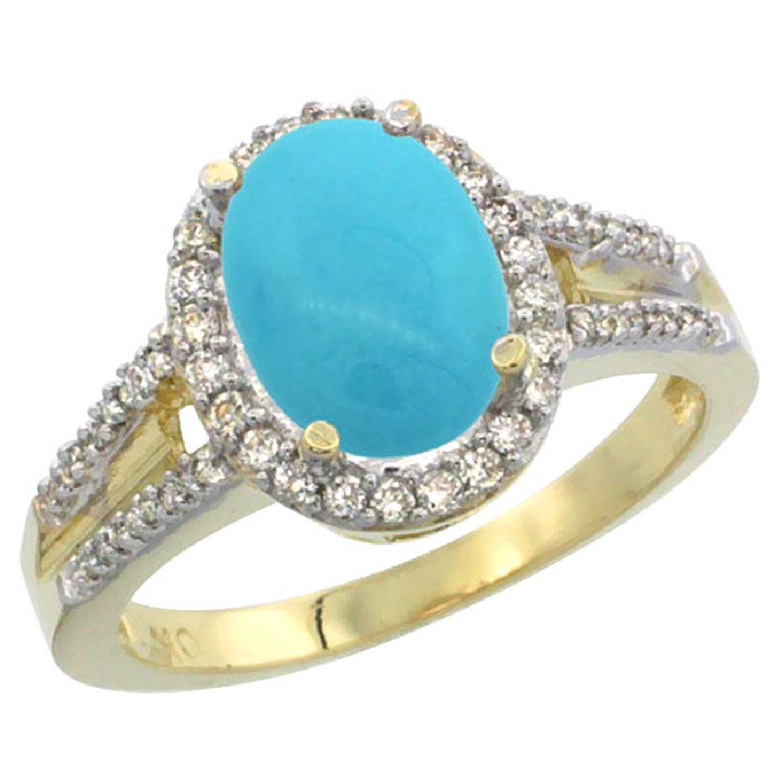 Natural 2.72 ctw turquoise & Diamond Engagement Ring