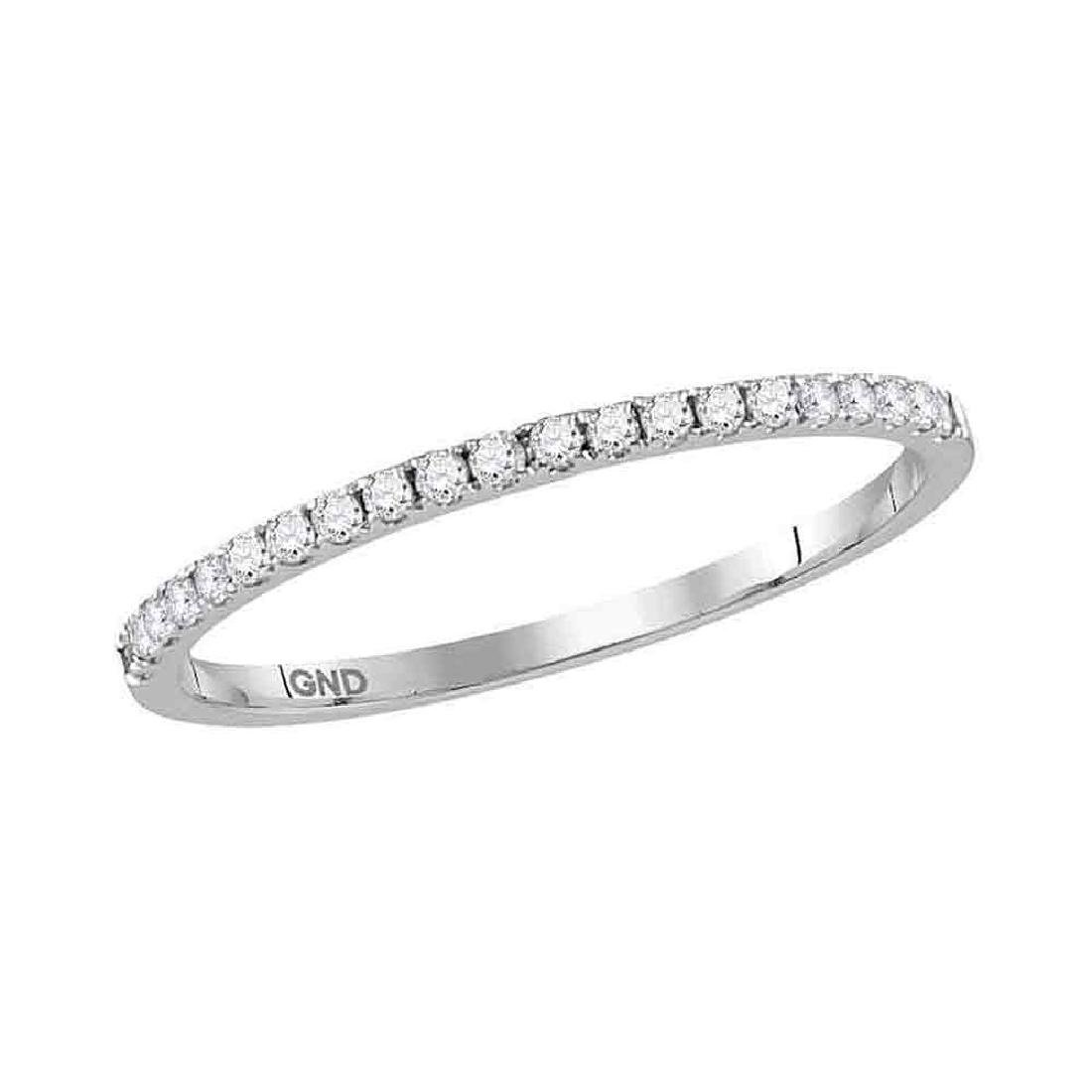0.17 CTW Diamond Stackable Ring 14KT White Gold -