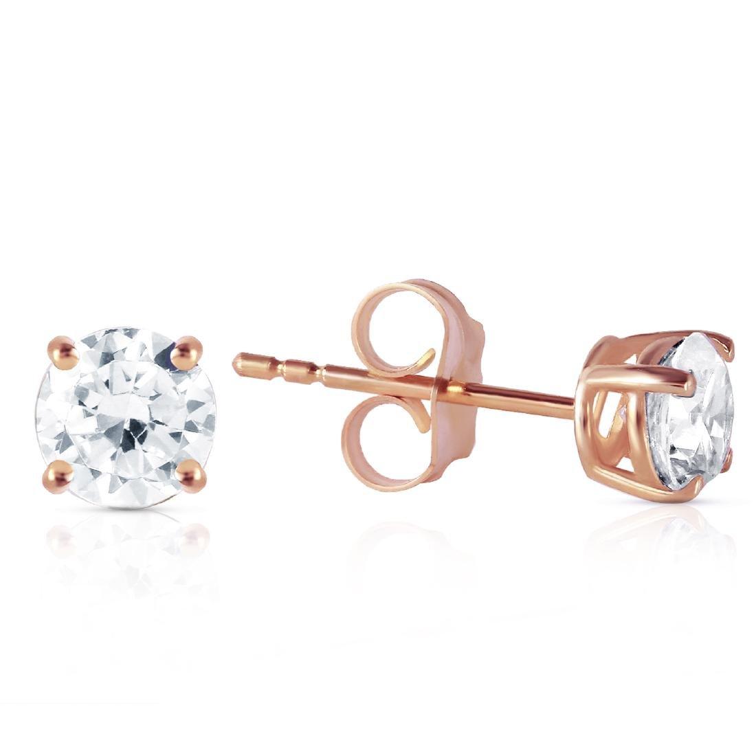 Genuine 0.80 ctw Diamond Anniversary Earrings Jewelry