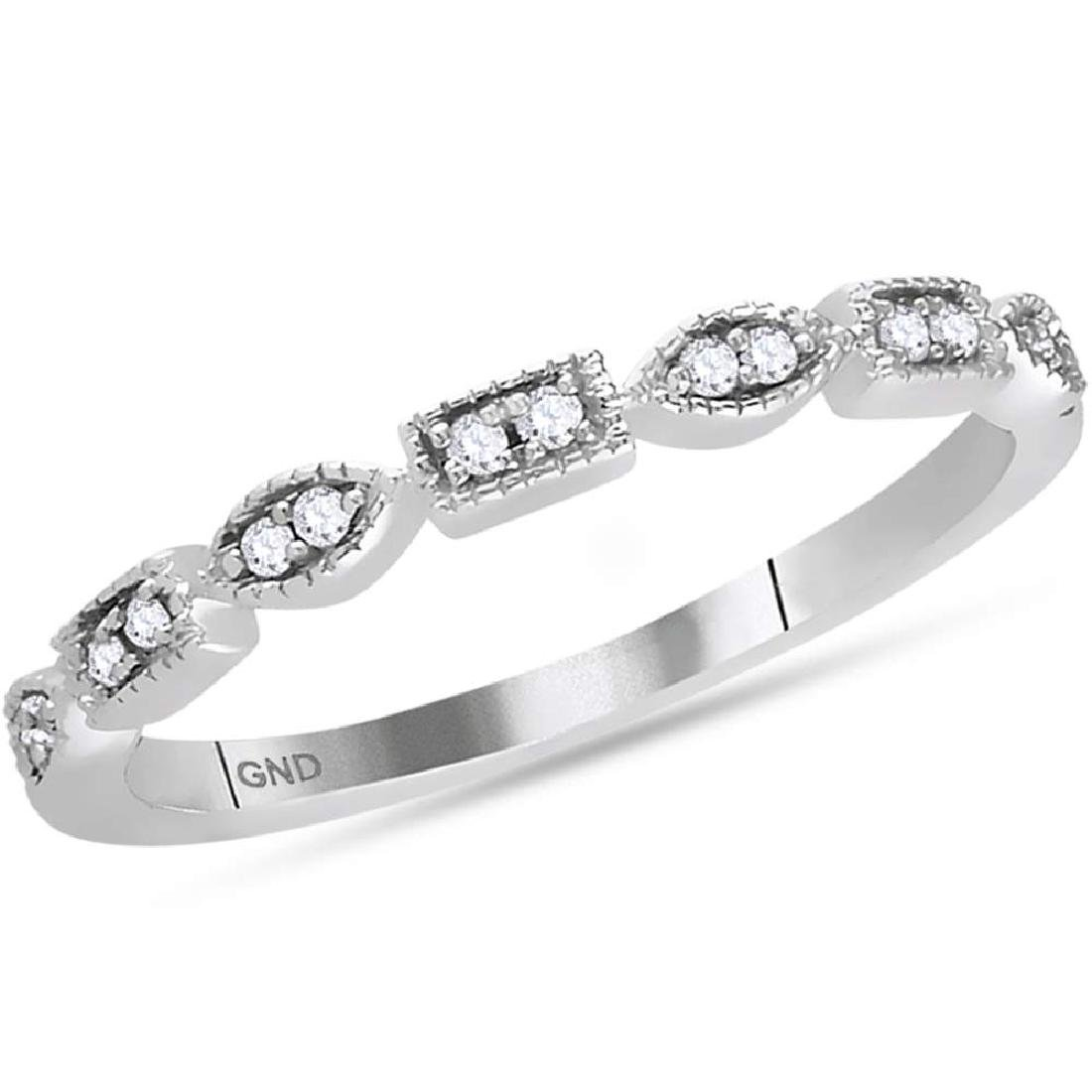 0.09 CTW Diamond Stackable Ring 14KT White Gold -