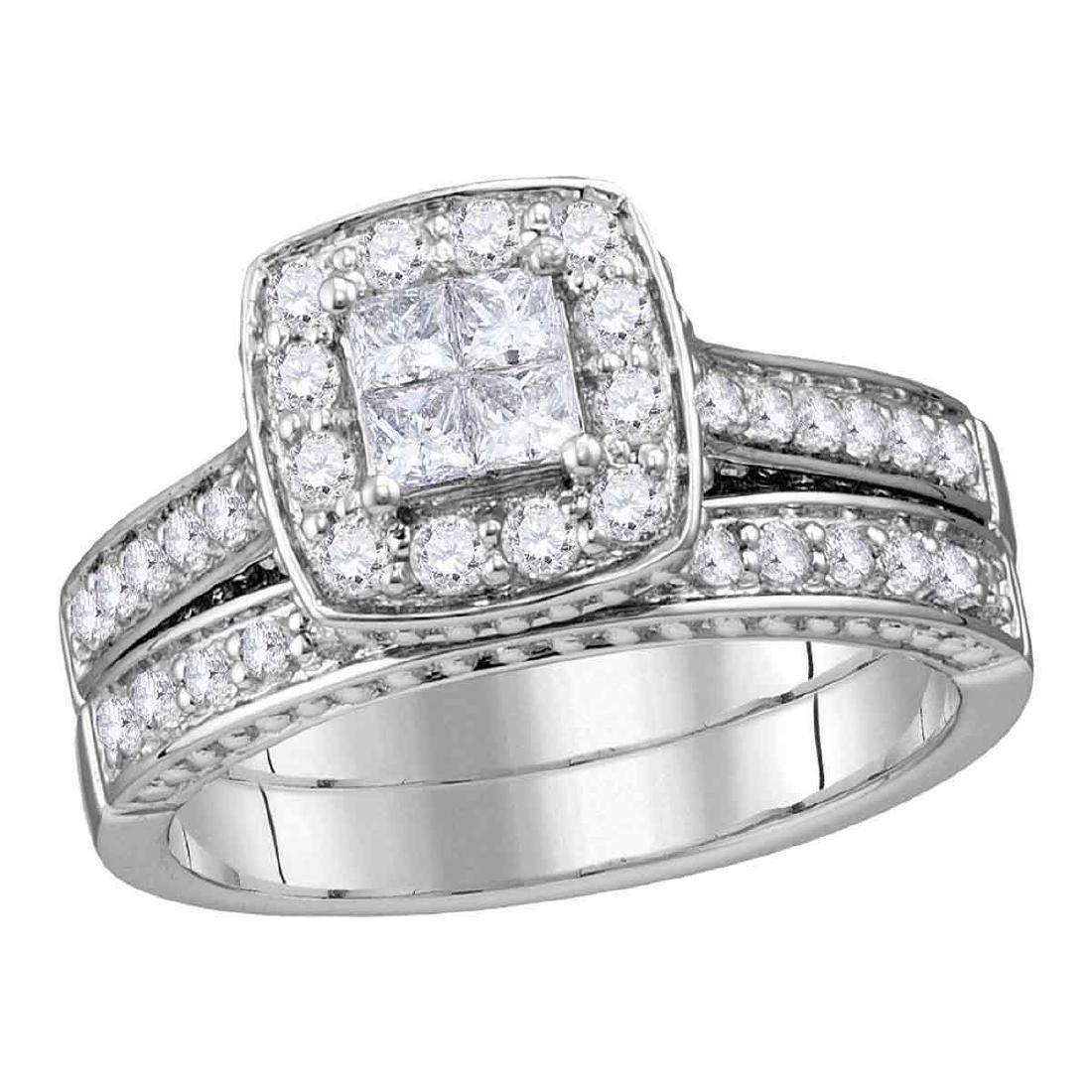 0.95 CTW Princess Diamond Bridal Engagement Ring 14KT