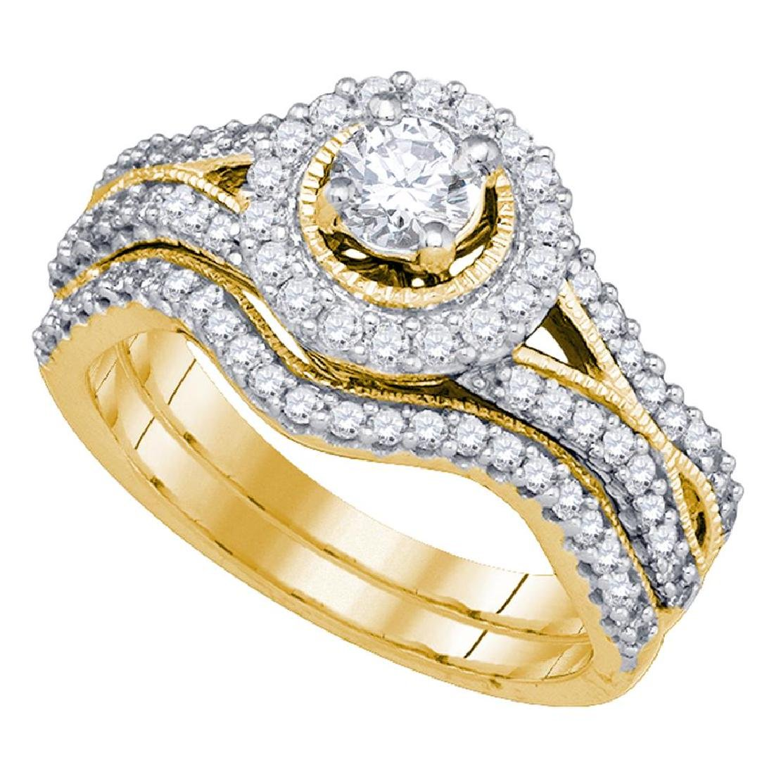 0.95 CTW Diamond Bridal Wedding Engagement Ring 14KT