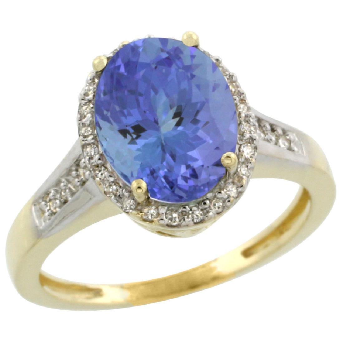 Natural 2.49 ctw Tanzanite & Diamond Engagement Ring