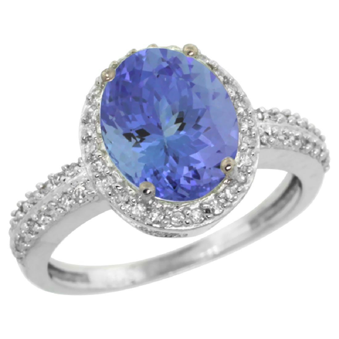 Natural 2.56 ctw Tanzanite & Diamond Engagement Ring