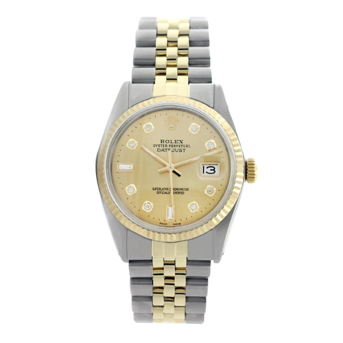 Rolex Pre-owned 36mm Mens Champagne Two Tone -