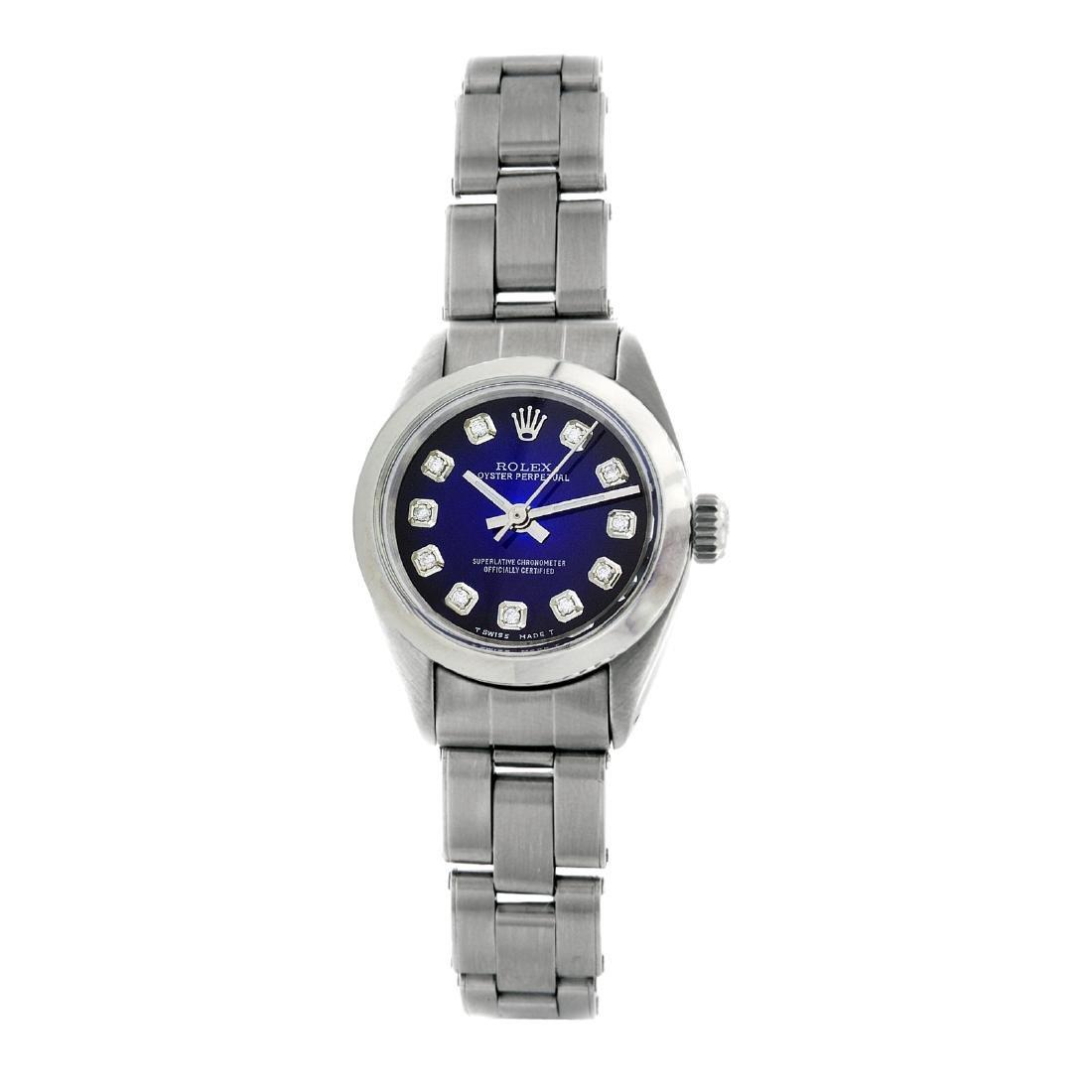 Rolex Pre-owned 26mm Womens Custom Blue Vignette