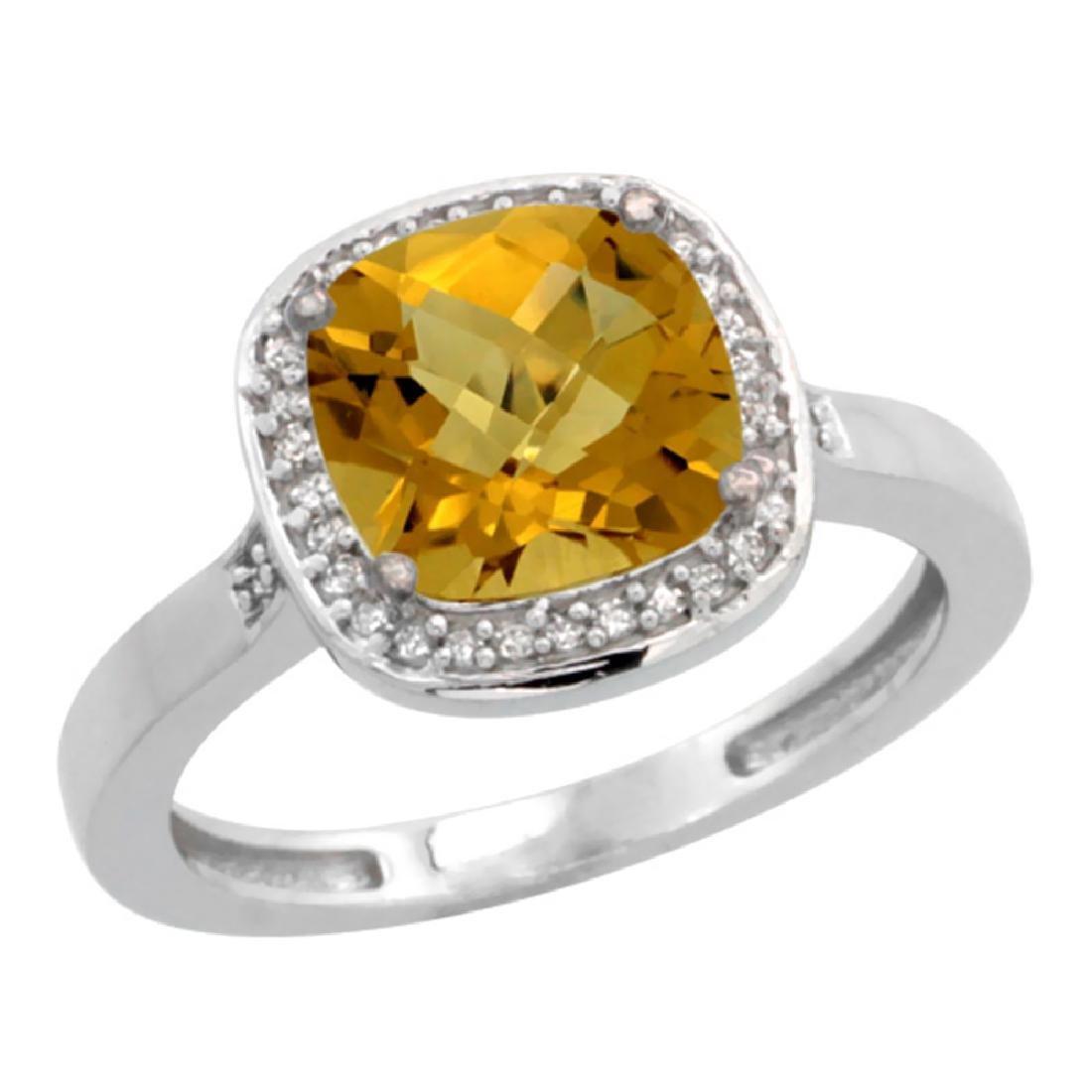 Natural 3.94 ctw Whisky-quartz & Diamond Engagement