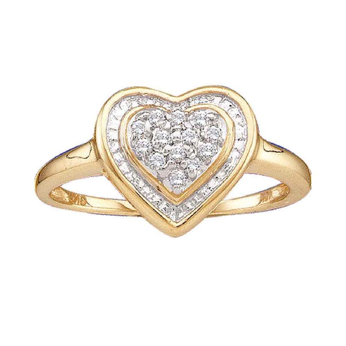 0.11 CTW Diamond Heart Ring 14KT Yellow Gold -