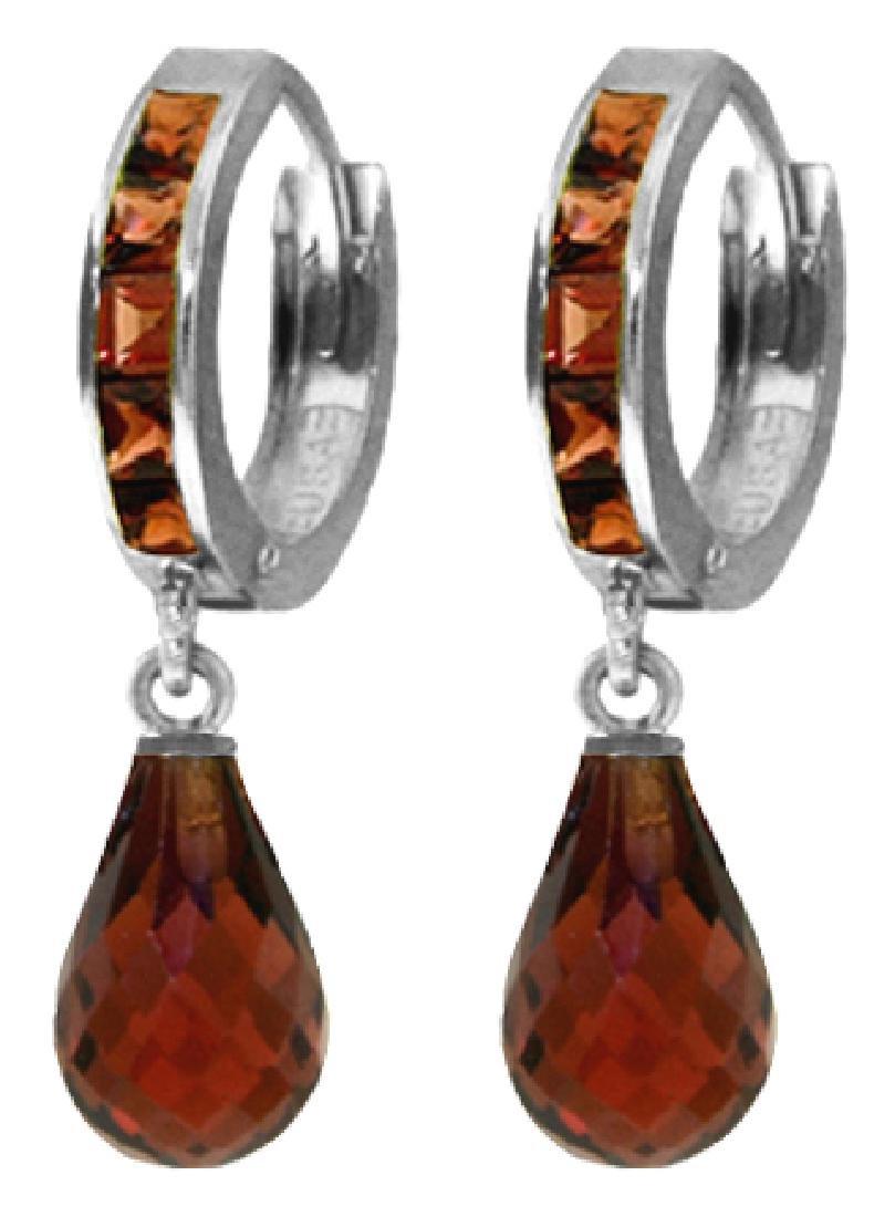 Genuine 5.35 ctw Garnet Earrings Jewelry 14KT White