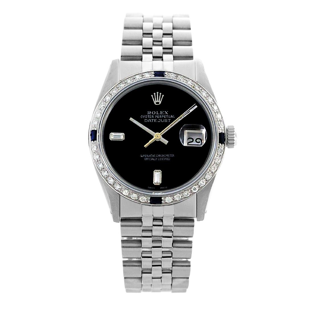Rolex Pre-owned 36mm Mens Black Dial Stainless Steel -