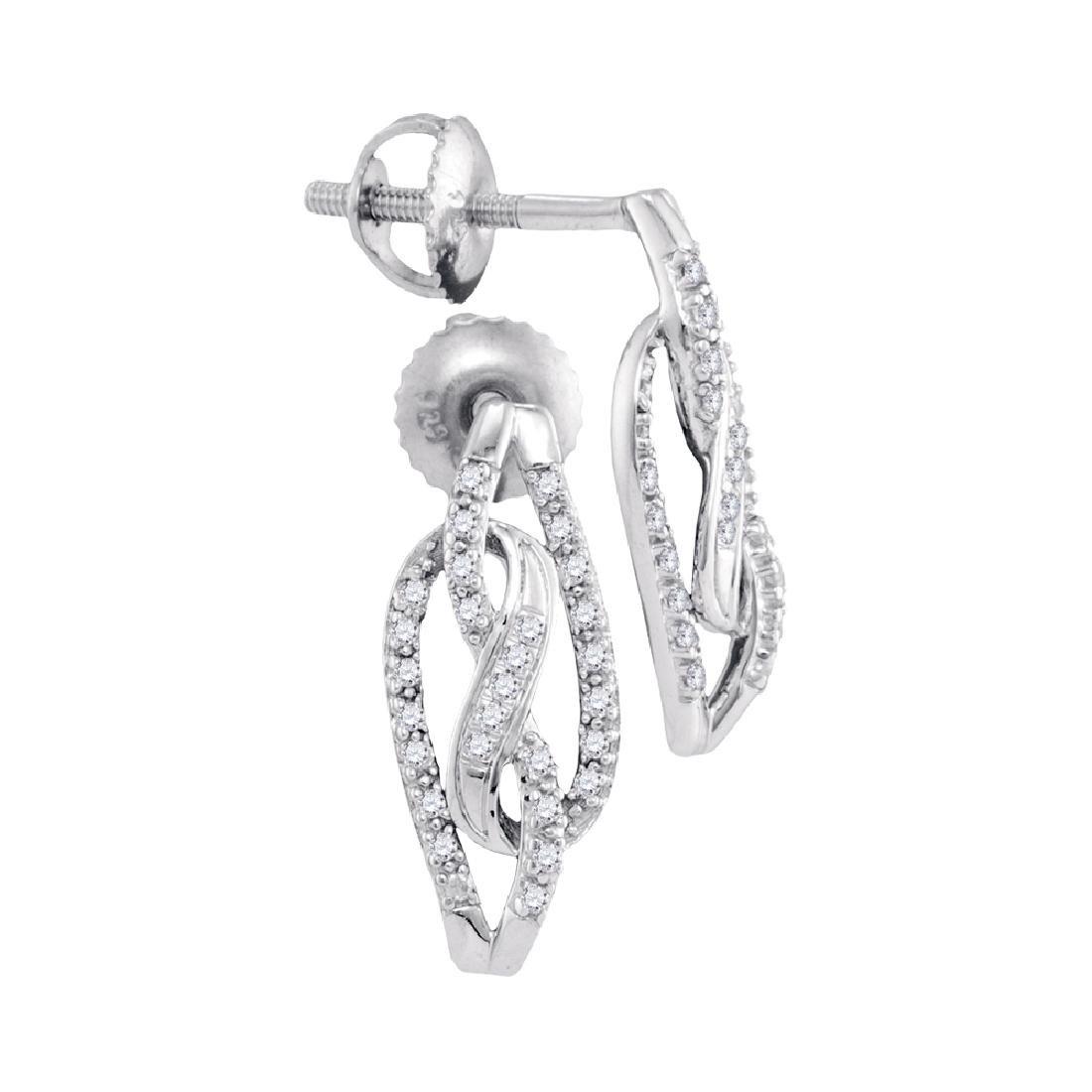 0.15 CTW Diamond Infinity Screwback Stud Earrings 10KT