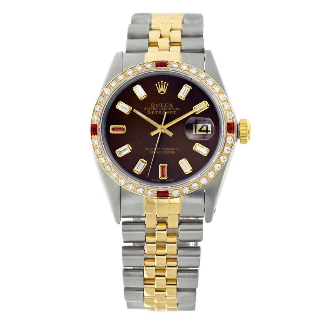 Rolex Pre-owned 36mm Mens Chocolate Brown Two Tone -