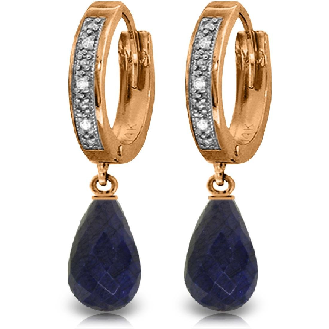 Genuine 6.64 ctw Sapphire & Diamond Earrings Jewelry