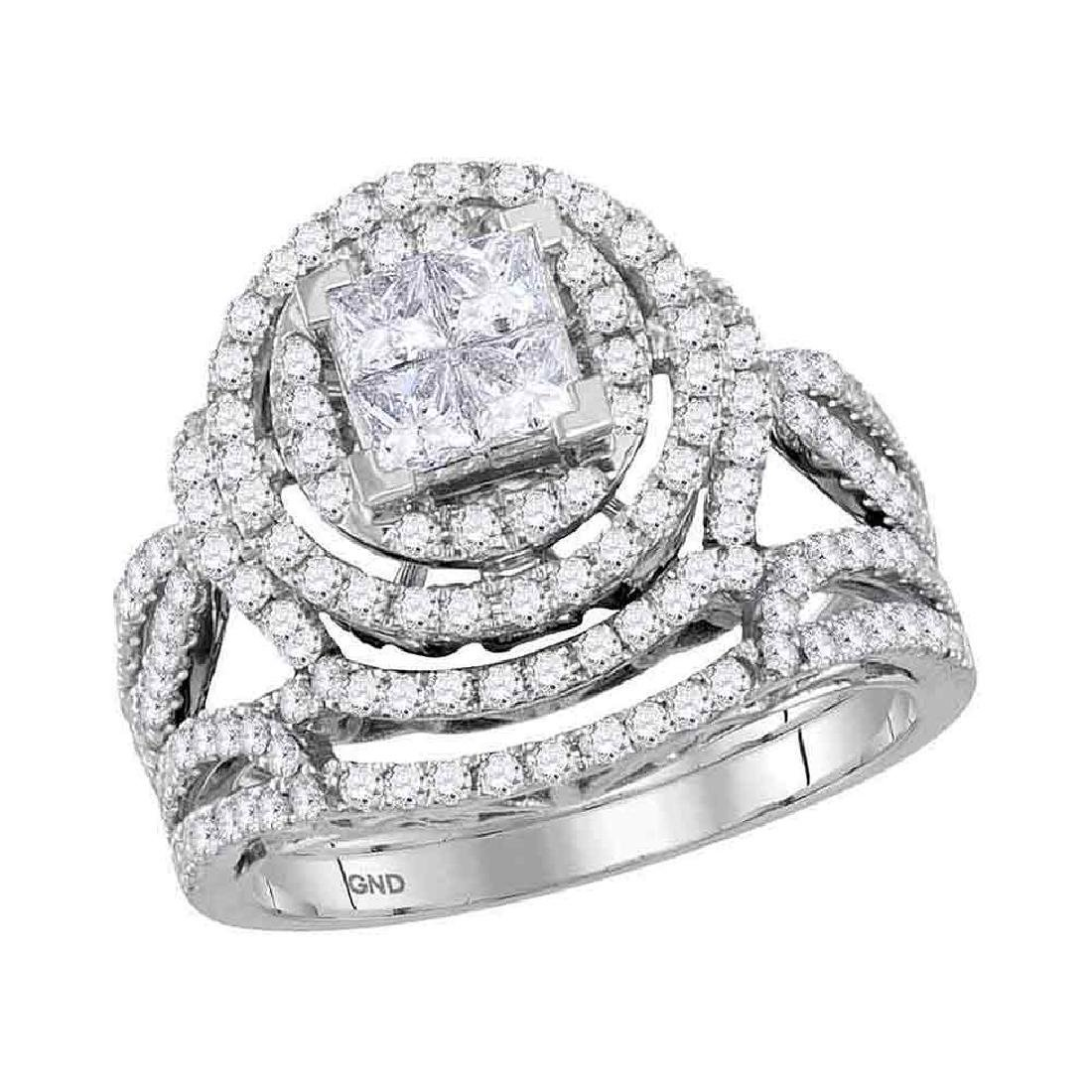 1.59 CTW Princess Diamond Bridal Engagement Ring 14KT