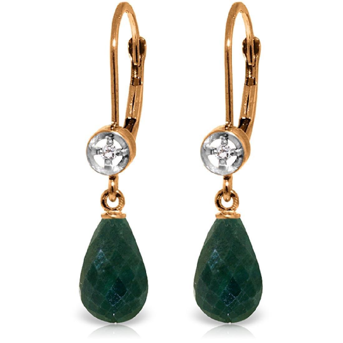 Genuine 6.63 ctw Green Sapphire Corundum & Diamond
