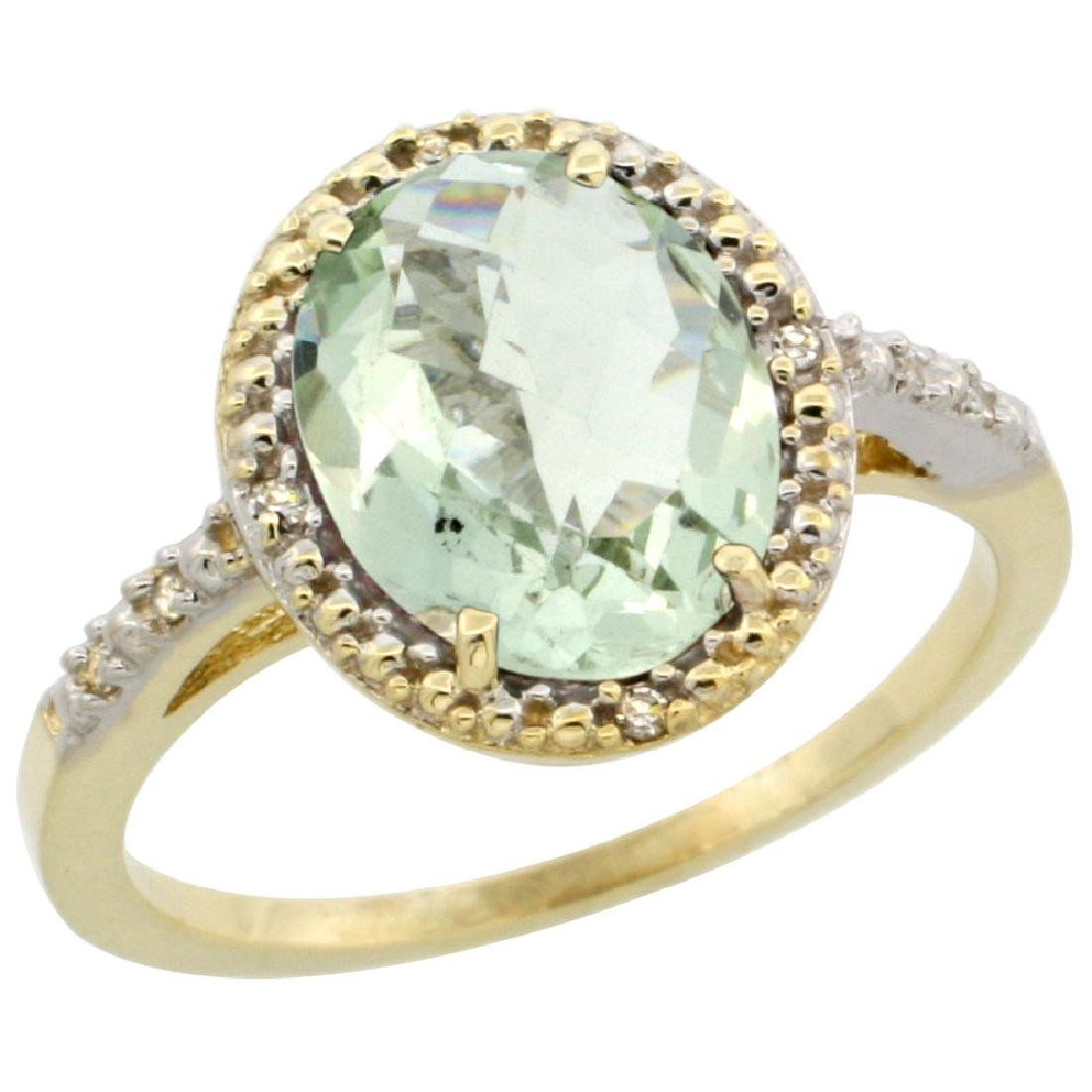 Natural 2.42 ctw Green-amethyst & Diamond Engagement