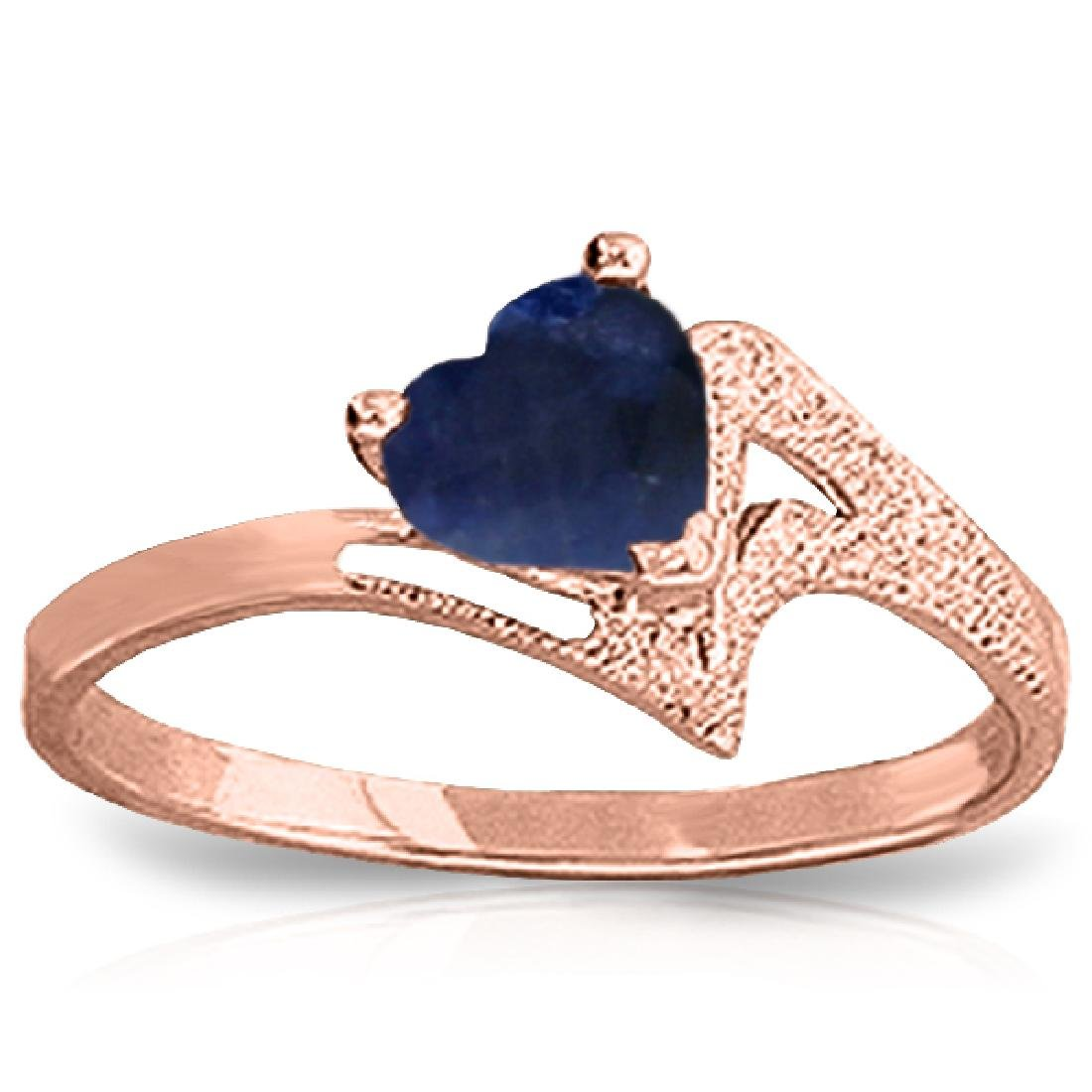 Genuine 1 ctw Sapphire Ring Jewelry 14KT Rose Gold -
