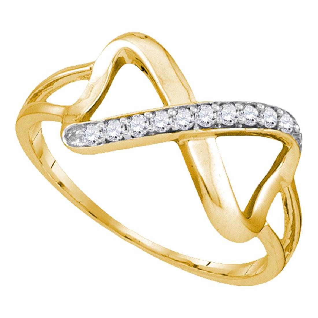 0.10 CTW Diamond Infinity Ring 10KT Yellow Gold -