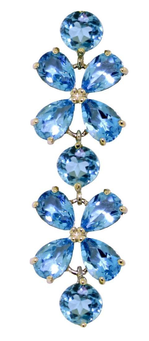 Genuine 20.7 ctw Blue Topaz Bracelet Jewelry 14KT White