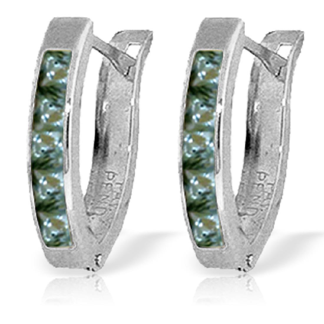Genuine 1.30 ctw Green Sapphire Earrings Jewelry 14KT