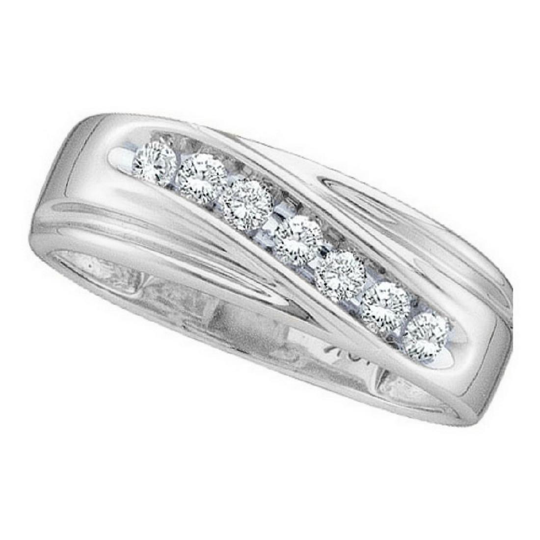 0.25 CTW Mens Channel-set Diamond Single Row Wedding