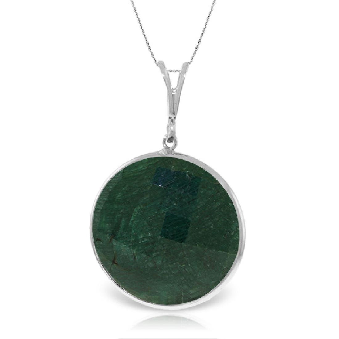 Genuine 23 ctw Green Sapphire Corundum Necklace Jewelry