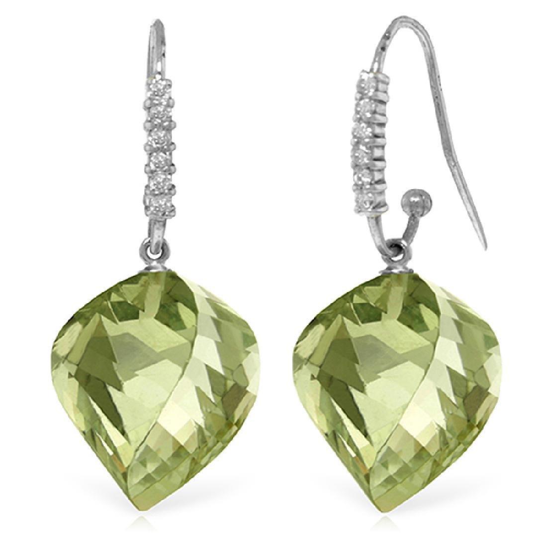 Genuine 26.18 ctw Amethyst & Diamond Earrings Jewelry