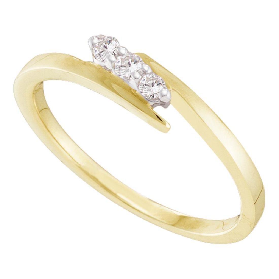 0.10 CTW Diamond 3-stone Promise Bridal Ring 10KT
