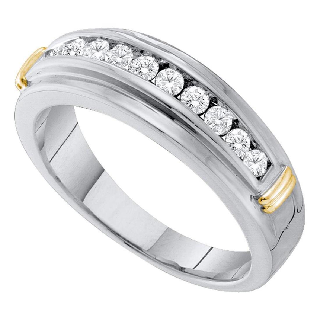 0.52 CTW Mens Channel-set Diamond Single Row Wedding