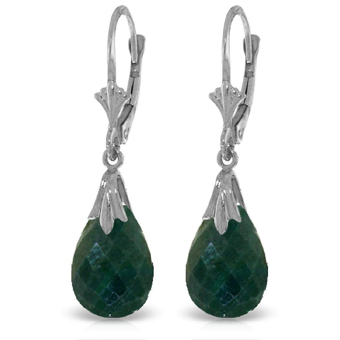 Genuine 8 CTW Created Green Sapphire Earrings Jewelry