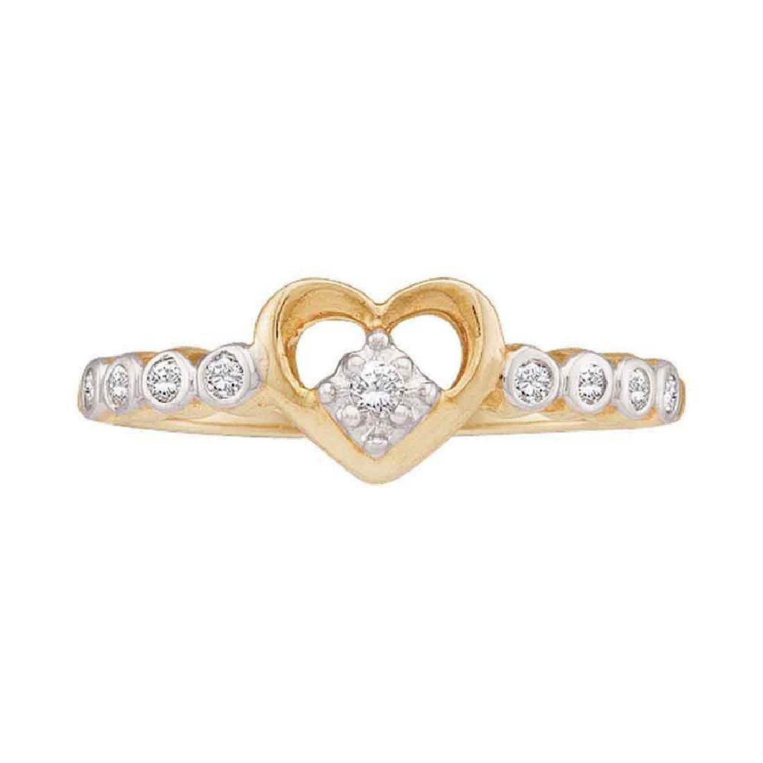 0.10 CTW Diamond Heart Ring 10KT Yellow Gold -