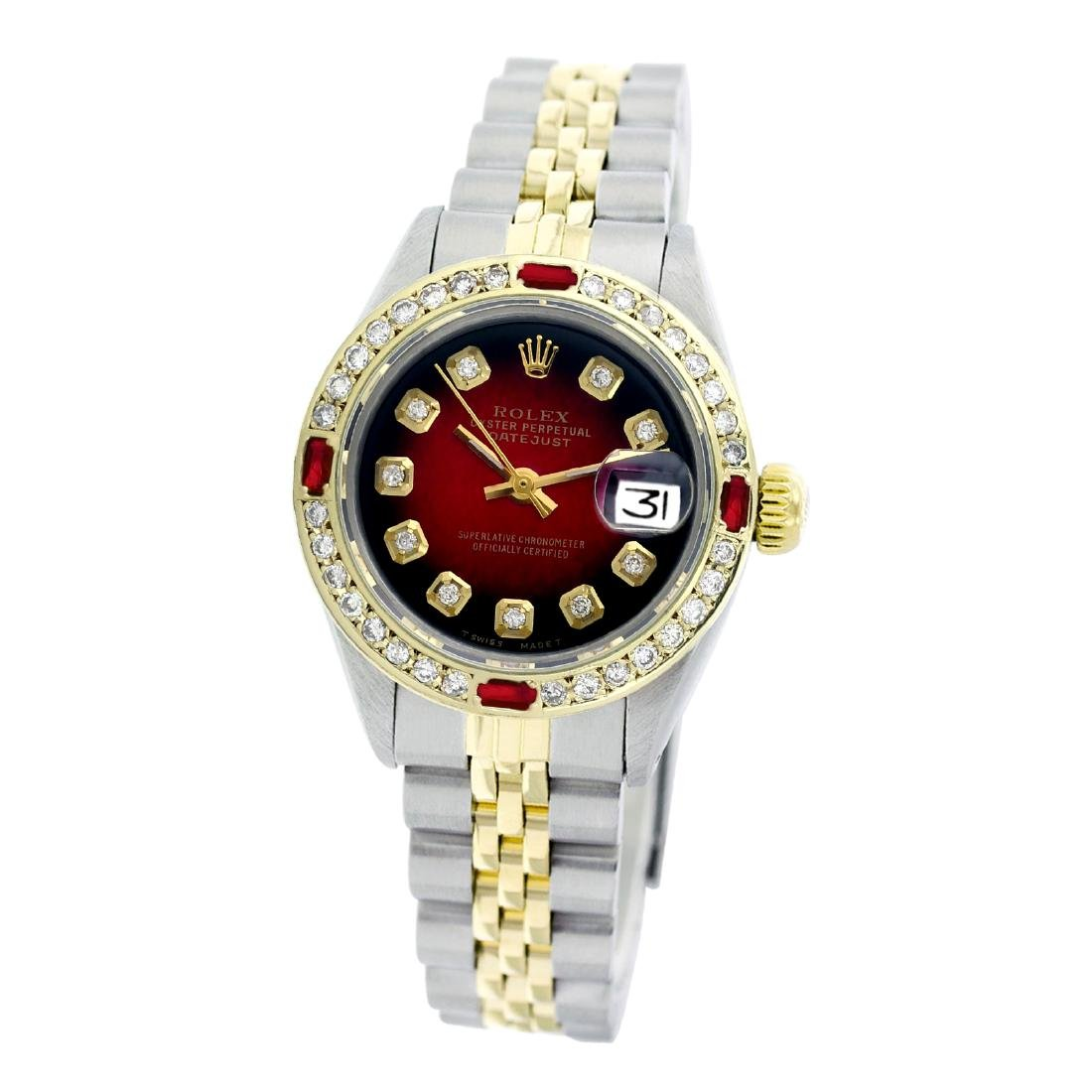 Rolex Pre-owned 26mm Womens Custom Red Vignette Two