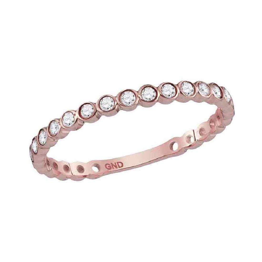 0.18 CTW Diamond Stackable Ring 14KT Rose Gold -