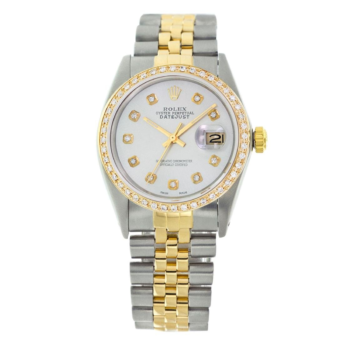Rolex Pre-owned 36mm Mens Powder Blue Two Tone -