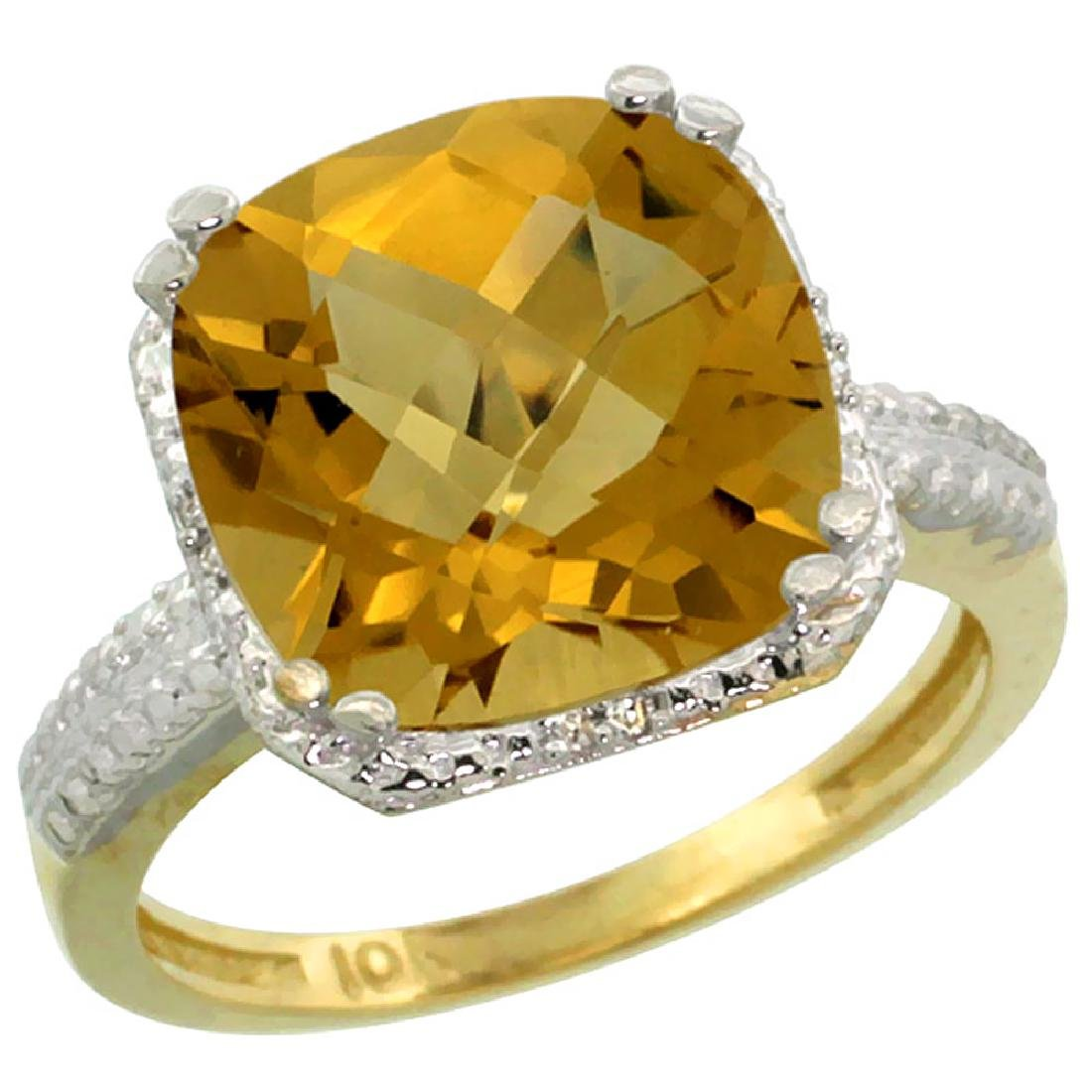 Natural 5.96 ctw Whisky-quartz & Diamond Engagement