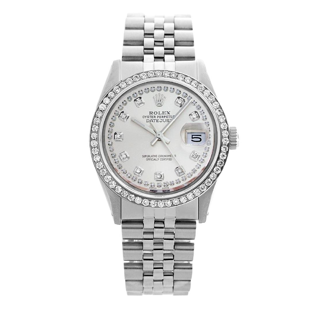 Rolex Pre-owned 36mm Mens String Silver Dial Stainless
